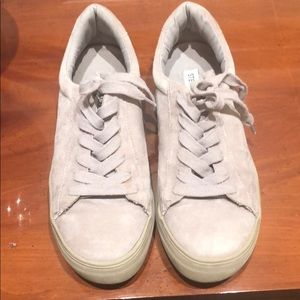 Steve Madden gray suede sneakers